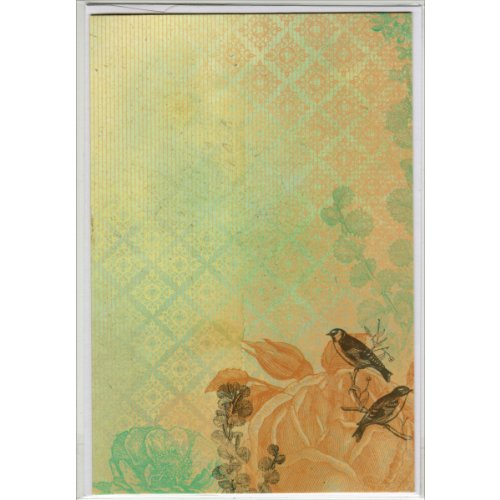 Kaisercraft PC710 Blank Inside Printed Card and Envelope, 4.5 by 6.75-Inch, Botanical