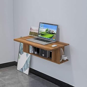 Mueble TV de Pared Escritorio de computadora con Cajon Estante de la Pared Estante Flotante Set Top Box enrutador Estante para Libros CD Reproductor de DVD Estante de Almacenamiento Estante de TV: