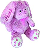 Personalized Plush Bunny-14 inches Tall- Stuffed Animal-Easter Or Gift (Pink)