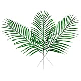 XHSP 11 40pcs Fake Faux Artificial Tropical Leaves Green Single Leaf Palm for Home Kitchen Party Decorations Handcrafts