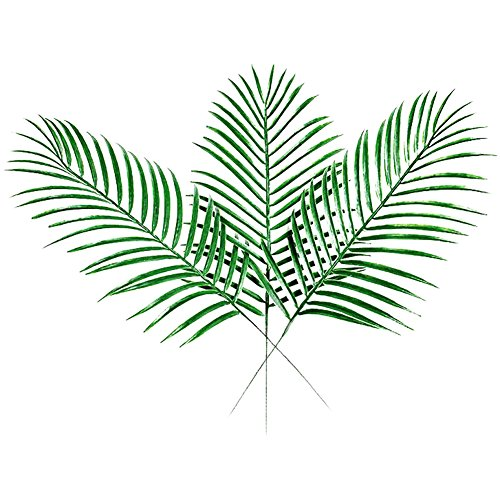 XHSP 40pcs Fake Faux Artificial Tropical Palm Leaves Green Single Leaf Palm for Home Kitchen Party Decorations Handcrafts (Flower Soft Christmas Toppers)