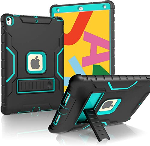 Purchase LTROP iPad 10.2 2019 Case, iPad 7th Generation Case with Built-in Screen Protector, 10.2″ iPad Case Heavy Duty Rugged Full-Body Drop Protection Stand Case Cover for iPad 10.2-Inch 2019 Gen 7th, Black