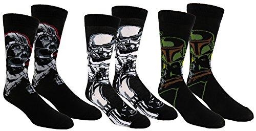 Star Wars Mens Casual Crew Socks 2 & 3 Pair Pack