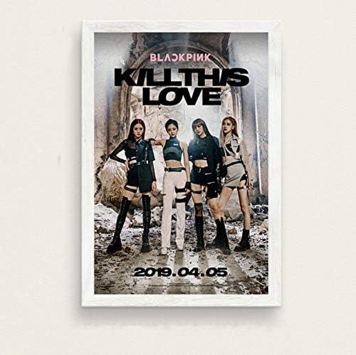 70 cm MXIBUN Poster Und Drucke Blackpink Kill This Love K-Pop Musik M/ädchen Sterne Gruppe Wandkunst Bilder Leinwand Gem/älde Ohne Rahmen 50