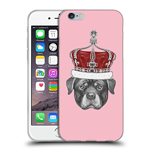GoGoMobile Coque de Protection TPU Silicone Case pour // Q05450630 Rottweiler couronne Rose // Apple iPhone 7