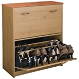 Venture Horizon Double Shoe Cabinet- Oak