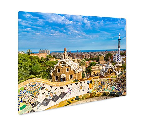 Ashley Giclee Metal Panel Print, Park Guell In Barcelona Spain, 16x20 by Ashley Giclee
