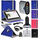 EEEKit 8 Items All in 1 Kit for Tablets,Folio PU Leather Case,Micro USB OTG Card Reader/Audio Cable,Micro USB Charging Data Cable and Wall/Car Charger