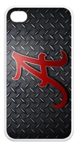 NCAA Series Case Cover Hot Favourite Case Fits Iphone 4 4s (TPU) Alabama Crimson Tide