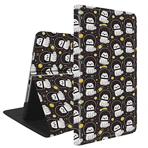 - Compatible with iPad Air 3(2019) / iPad Pro 10.5(2017), Slim Fit All Round Protect with Auto Sleep/Wake Standable PU Leather case - Space Pug Dog Astronaut Pattern