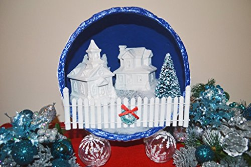 Christmas Diorama, Christmas Miniature, Christmas Decoration, Christmas Village,Table Decoration, Wintry Night, Ready to Ship!