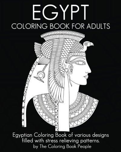 Coloring Book For : Egypt coloring book for adults: egyptian of various