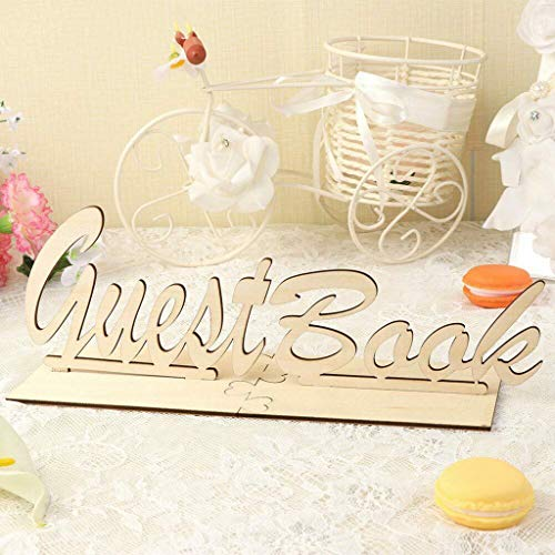 m·kvfa Wedding Guest Book Rustic Wooden Guest Book Sign Wedding Gift Guest Book Sign for Baby Shower Table Signs Personalised Wedding