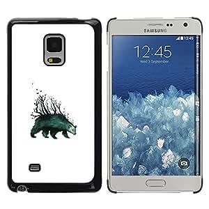 EJOY---Cubierta de la caja de protección la piel dura para el / Samsung Galaxy Mega 5.8 / --Oso Árboles