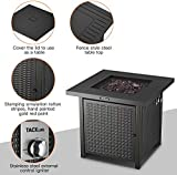 TACKLIFE Propane Fire Pit,Outdoor Companion,28 Inch