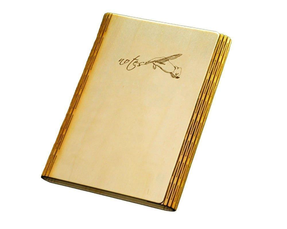 Agenda, Cuaderno, diario A5 cuaderno con cubierta de madera ...