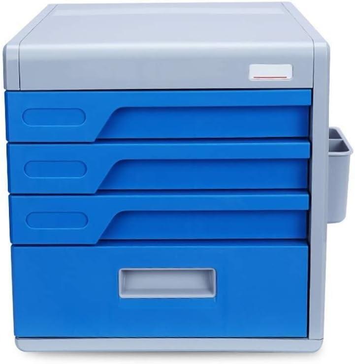 ファイルキャビネット パスワードロックデスクトップファイルキャビネット、四層オフィスデスクトップストレージボックスストレージ引き出し機密オフィス引き出しオーガナイザー(サイズ:12インチ* 15.2in * 10.8in) オフィス用品