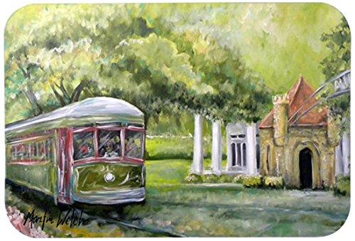 """Caroline's Treasures MW1091JCMT """"Streetcar Next Stop Audubon Park"""" Kitchen or Bath Mat, 24"""" by 36"""", Multicolor 80%OFF"""