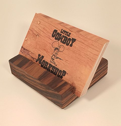 Solid Wood Business Card Holder - Zebrawood (biz card stand, office gift, paper card holder)