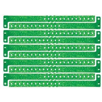 Plastic Sparkle Wristbands (green) (100/Box) ()