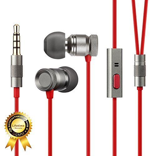 GGMM Nightingale Deep Heavy Bass In-Ear Noise-Isolating Earbuds Headphone w/ Full Metal Housing Dynamic Dual Drivers, Universal 1-Button Remote & Microphone, Lifetime Hassle Free Warranty (Gunmetal)