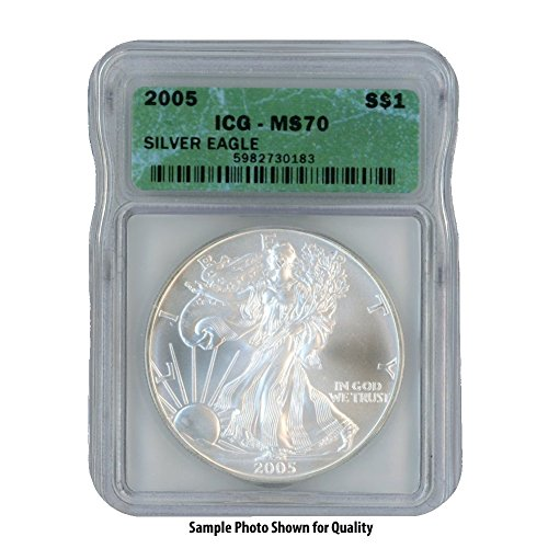 2005 American Silver Eagle $1 MS70 ICG