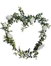 RelatoHolife 6 Ft Artificial Eucalyptus Garland Plants, Faux Vines Hanging Eucalyptus Leaves Garland for Wedding Backdrop Wall Home Decor