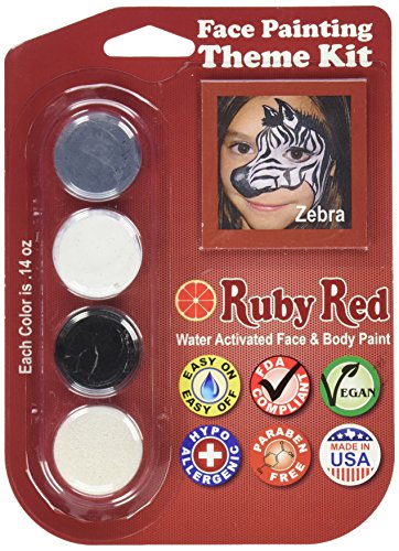 Ruby Red Paint, Inc. THEMEZEBRA Face Paint, 2ML X 3 Colors - Zebra]()