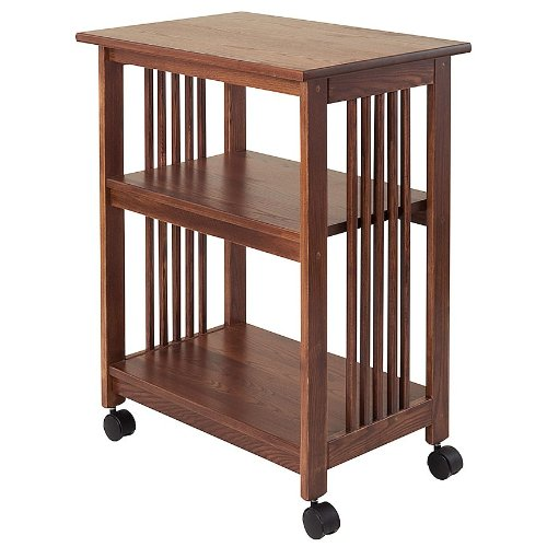 Manchester Wood Tall Mission Printer Cart - Chestnut by Manchester Wood: American Made Furniture