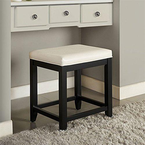 Crosley Furniture CF7007BK-WH Vista Vanity Stool Black