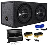 "Package: Kenwood P-W1220 Package of: Kenwood KAC-5206 400W Peak/120W RMS 2-Channel Car Amplifier + 2)KFC-W112S 12' 800W Peak/200W RMS 8-Ohm Car Subwoofers + Rockville RD12 Dual 12"" Sealed Sub Enclosure + Dual Enclosure Wire Kit w/ 14 Gauge Speaker Wire"