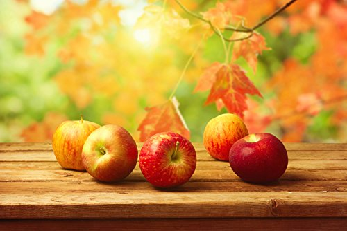Tomorrow sunny Apples on the table autumn background Decorat