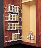 "Feeny 4 Tier Spice Rack 10 3/4"" Wide White"