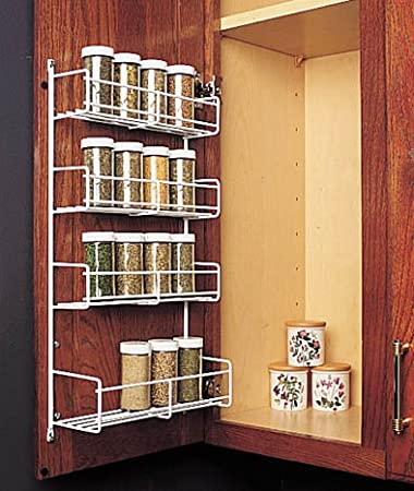 Captivating Feeny 4 Tier Spice Rack 10 3/4u0026quot; Wide White