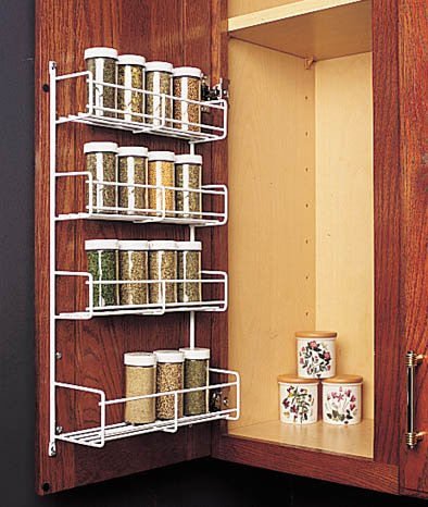 Feeny 4 Tier Spice Rack 10 3/4u0026quot; Wide White