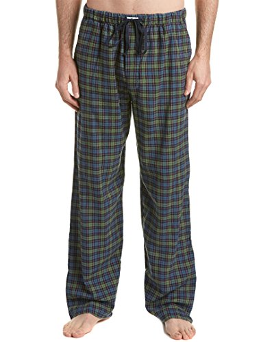 Ben Sherman Men's Flannel Traditional Plaid Lounge Pant, Green, (Ben Sherman Pajama Pants)