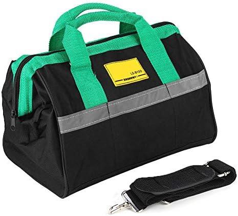 ツールバッグ電気技師バッグ、ヘビーデューティツールバッグキャンバス電気技師修理ハードウェアハンドツールストレージアクセサリー(D)