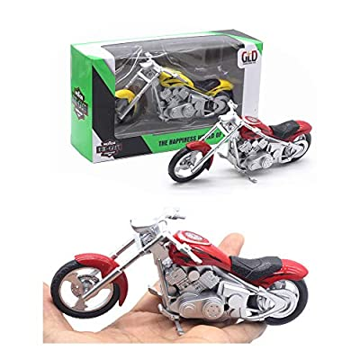 HanYoer Motorcycles Model 1:32 Scale Diecast Car Model Collection Motorcycle Lovers (Blue): Home & Kitchen