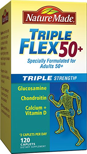Nature Made TripleFlex Triple Strength 50+ Caplet (Glucosamine Chondroitin) Value Size 120 ct