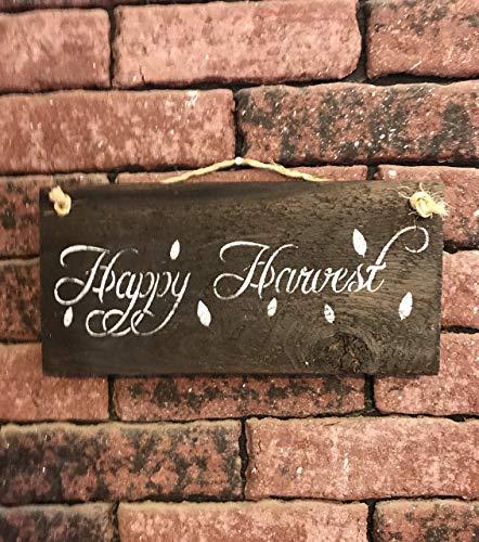 Happy Harvest Barn Wood Sign -