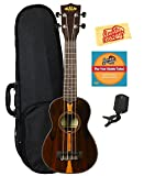 Kala KA-ZCT-S Ziricote Soprano Ukulele Bundle with Hard Case, Tuner, Austin Bazaar Instructional DVD, and Polishing Cloth