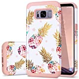 Galaxy S8 Case,Pineapple S8 Cases,Fingic Floral Pineapple Ultra Thin Case Hard PC Soft Rubber Anti-Scratch Protective Case for Women Girls Cover for Samsung Galaxy s8 2017 ONLY,Pineapple/Rose Gold