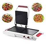 TAVLAR Portable Electric Grill Griddle Non Stick Barbecue Indoor Smokeless BBQ Cooking