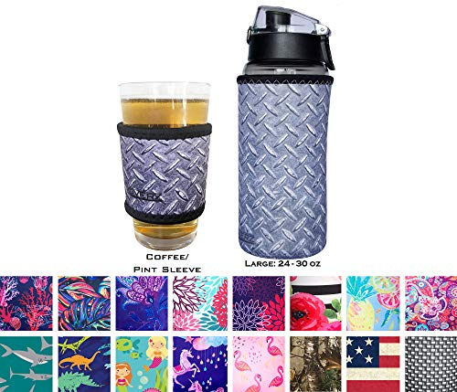 (Koverz Neoprene Coffee Sleeve, Cup Grip, Drink Holder, Pint Sleeve - Diamond)