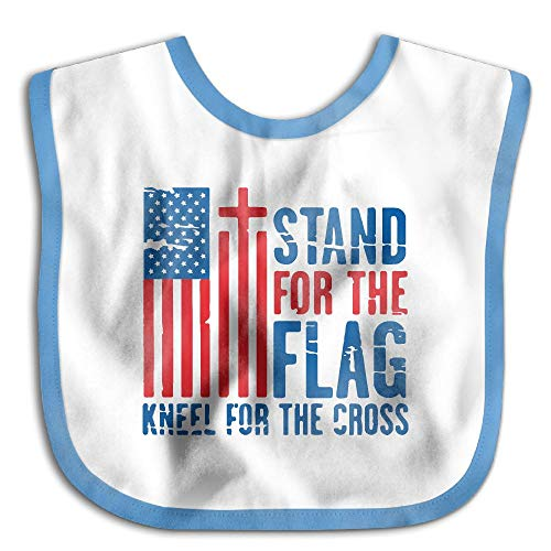 Stand For The Flag Infant Teething Bib - Soft And Hypoallergenic