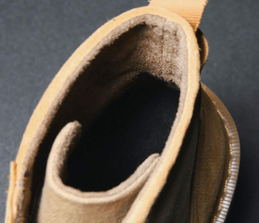 YAN Herren Stiefel 2018 Schuhe Leder + Stiefel Leinwand Martin Stiefel Britische High-Top-Werkzeug Stiefel + Retro Outdoor Desert Stiefel Schwarz-Braun Grau,braun,39 686e74