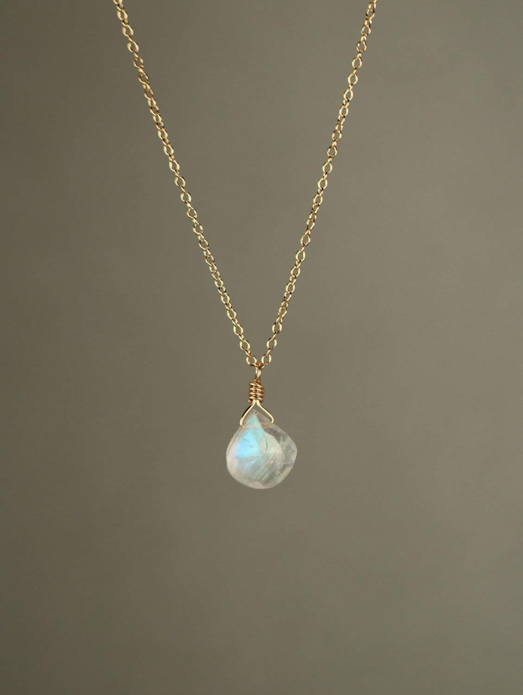 b82632f5f61466 Rainbow Moonstone necklace 14k gold vermeil chain Long charm, Silver,rose  gold, Gemstone Pendant Moonstone, Heart shaped moonstone, marquise shape  drop ...