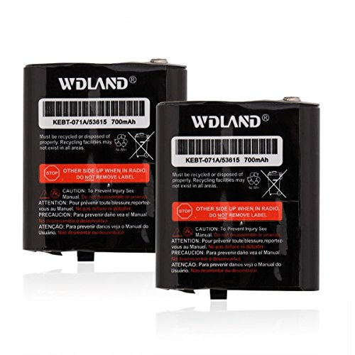 WDLAND 3.6V 1000mah Nickel Metal Hydride Two-way Radio Rechargeable Battery for Motorola 53615 KEBT-071-A KEBT-071-B KEBT-071-C KEBT-071-D Talkabout Replacement Battery (Pack of 2)