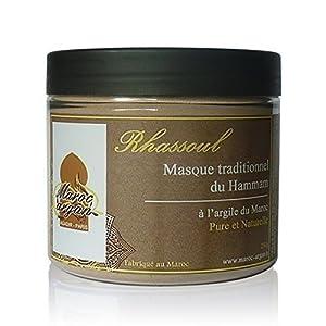 Rhassoul - Argile Purifiante du Maroc 100% Naturelle et Hypoallergénique - Masque Peau et Cheveux - 250g