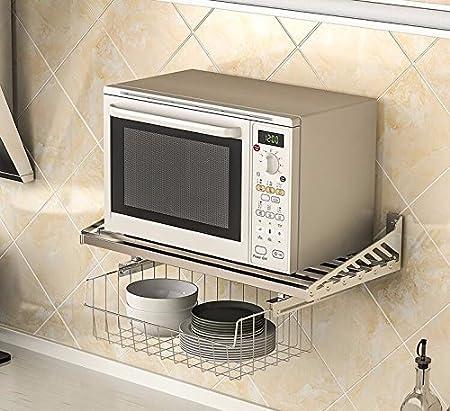lzzfw Acero Inoxidable 304 Estante microondas Cocina Racks ...